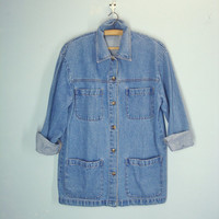 Vintage 80s Denim Jacket / Barn Jacket / 1980s Denim Jacket / Medium