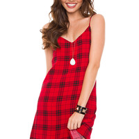 Tai Plaid Dress