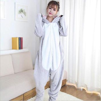 CREYCI7 Special Offe Women's Character Pajama Adult Full Sleeve Hooded Pajama Sets Footed Pyjamas For Adults Animal Pajamas One Piece