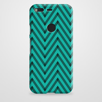 Sketchy Black And Blue Chevron Google Pixel XL Case | casefantasy