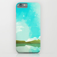 Warm Blue Sky iPhone & iPod Case by Amelia Senville