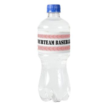 Custom Baseball Water Bottle Labels