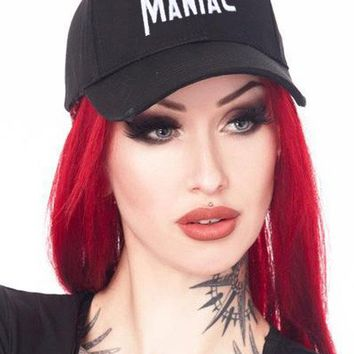 """Maniac"" Dad Hat by Ktag (Black)"