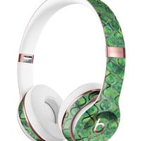 Green Watercolor Helix Pattern Full-Body Skin Kit for the Beats by Dre Solo 3 Wireless Headphones