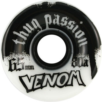 Venom Thug Passion 65mm 80a White/Black Longboard Wheels