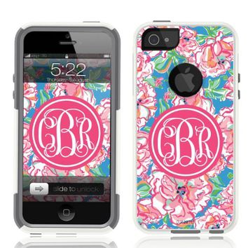 iPhone 5 / 5S Case [White] Lilly Pink Monogram [Dual Layer] UnnitoTM *1 Year Warranty* Case Protective [Custom] Commuter Protection Cover iPhone 5S