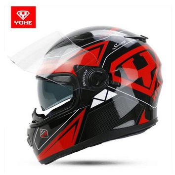 2017 Summer New YOHE Full Face Motorcycle helmet YH-970 Motocross motorbike helmets of ABS 10 kinds of colors size M L XL XXL