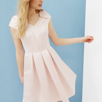 Bow detail pleated dress - Baby Pink | Dresses | Ted Baker