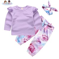 Baby Girls Clothes Children Clothing Sets 2018 Brand Kids Tracksuits for Girls Sets Animal Pattern Baby Girl School Outfits