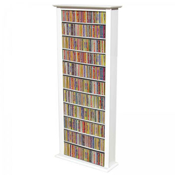 "Bookcase Media Tower - Tall Single (White) (76""H x 28""W x 9.5""D)"