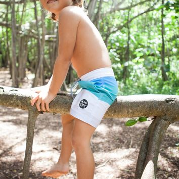 Walk-Surf-Swim Shorts in Color Block- Kid's