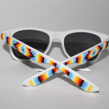 beaded tribal sunglasses by brownbeadednet on Etsy