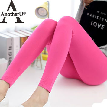 spring autumn Modal legging women's summer plus size thin cotton candy color trousers women sexy leggings with high quality