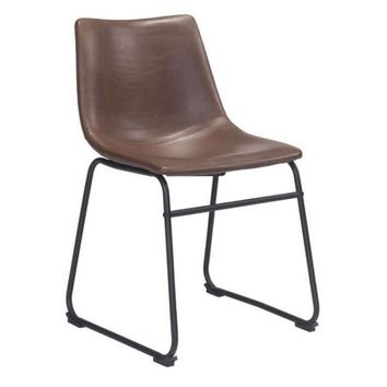 ZUO Modern Smart Dining Chair Vintage Espresso 100505 Dining Chairs / Stools