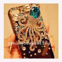 iPhone 4 Case, iPhone 4s Case, iPhone 5 Case, iPhone 5 bling case, Bling iPhone 4 case, Cute iPhone 5 case octopus, Cute iphone 4 case
