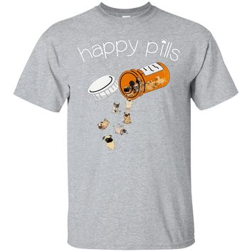 Happy Pills Funny Dog Lover Cute Hot T-Shirt