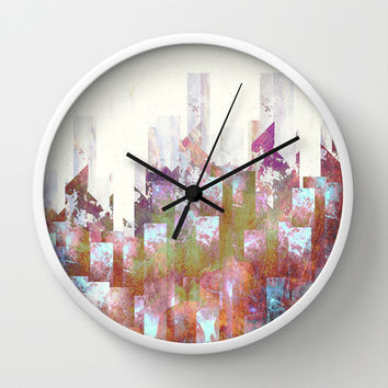 Dead cities Wall Clock by HappyMelvin