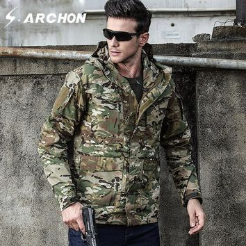 Trendy S.ARCHON M65 Autumn Winter Military Field Jackets Men Hooded Waterproof Windproof Tactical Pilot Jacket Male Camo Army Clothing AT_94_13