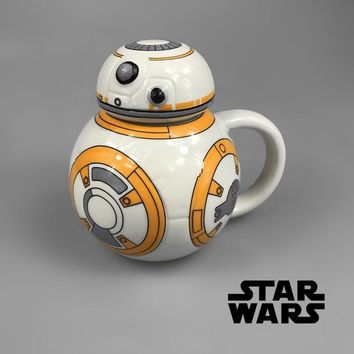 Star Wars Force Episode 1 2 3 4 5  Movie BB-8 Robot Special Cartoon Coffee Mug Birthday Gift Collection AT_72_6