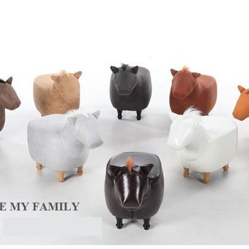 Cute Animal Stool Horse Ottoman - FREE SHIPPING