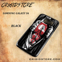 Superman Blood Open Cloth Snap on 2D Black and White Or 3D Suitable With Image For Samsung Galaxy S6 Case
