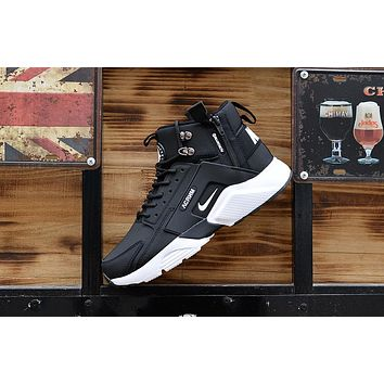 Huarache X Acronym City Mid Leather Black white Sneaker Shoes  0a716c903
