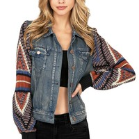 Vagabond Knit Denim Jacket