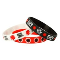 Red Hot Chili Peppers Logos Rubber Bracelet 3 Pack