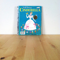 Walt Disney's Cinderella: A Little Golden Book {1987} Vintage Book
