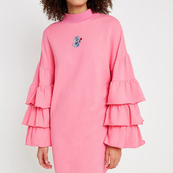 Lazy Oaf Puppy Frills Pink Jumper | Urban Outfitters