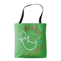 Sing Even If You Quack Music Tote Bag