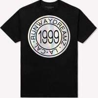1999 Medallion Holographic Black Tee Shirt