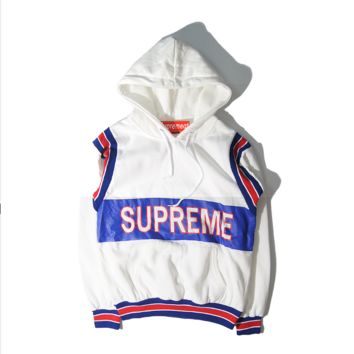 Supreme new autumn and winter printing hooded head sweater coat men and women models sweater