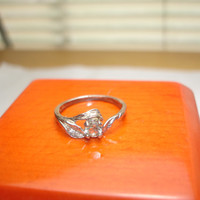 Beryl Ring Sterling Silver Size 6 3/4