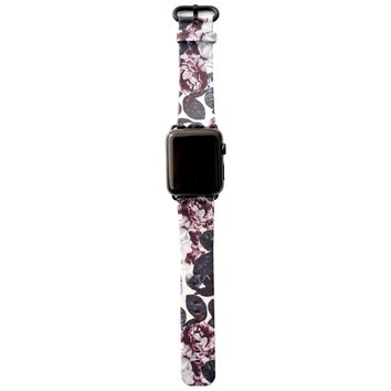 Shadow Blossom Vegan Leather Apple Watch Band 42mm