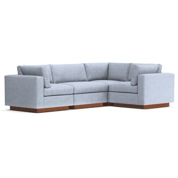 Taylor Plush 4pc Modular L-Sectional Sofa
