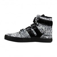 Radii Straight Jacket VLC Mens Black White High Top Zip Up Sneakers Shoes
