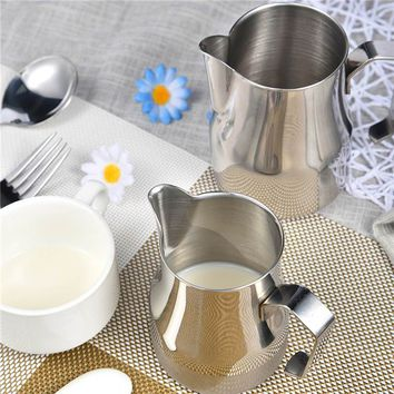 New Stainless Steel Milk Frothing Pitcher Jug Espresso Pitcher Coffee Latte Frothing Jug Drinks Tools Barista Craft
