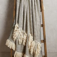 Geo Fringe Throw by Anthropologie in Black & White Size: One Size Throws