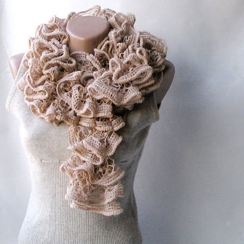 Knit scarf  winter accessories fall fashion by violasboutique