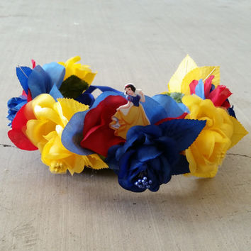 Snow White Inspired Floral Crown