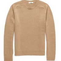 Valentino - Knitted Camel-Hair Crew Neck Sweater | MR PORTER