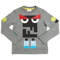 Boys Grey 'Monster' Logo Printed T-shirt