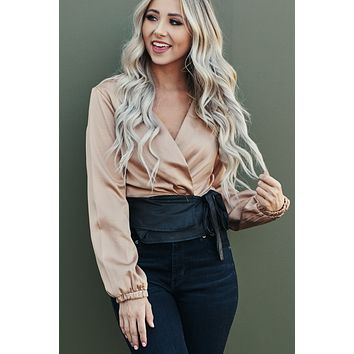 Dress The Part Top (Taupe)