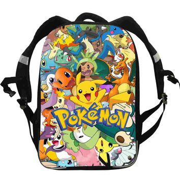 Pikachu Anime Backpacks Team Valor Snorlax Mario Dog Boys Girls Teenager School Bags Mochila Box Lunch Pencil CaseKawaii Pokemon go  AT_89_9
