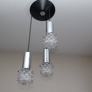 Midcentury 60s/70s cascade hanging pendant by Raak Amsterdam, Eames era