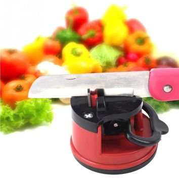 Kitchen Professional Knife Sharpener with suction pad Scissors Grinder Secure Suction Chef Pad Kitchen Sharpening Tool