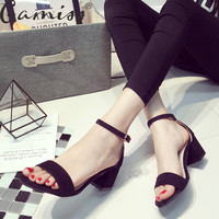 Thick Heeled Women's Sandals