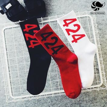 Winter men socks cotton hip hop funny socks for men deodorant thermal sock skateboard chaussette homme 424 print men happy socks