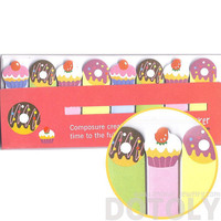 Colorful Donut and Cupcake Shaped Food Themed Memo Post-it Index Bookmark Tabs | Cute Affordable Food Themed Stationery